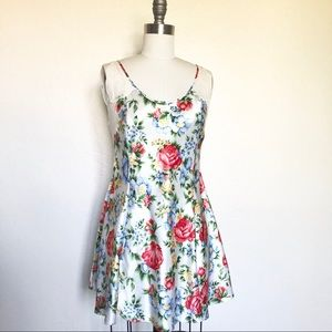 Vintage Victoria's Secret Satin Floral Slip Dress
